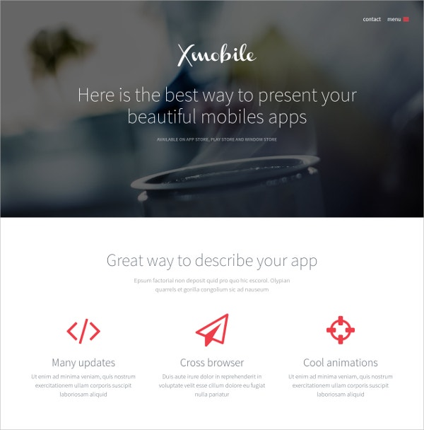 mobile landing page wordpress theme 44