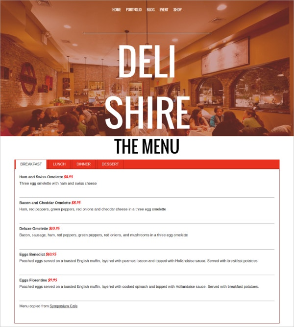 restaurant landing page wordpress theme