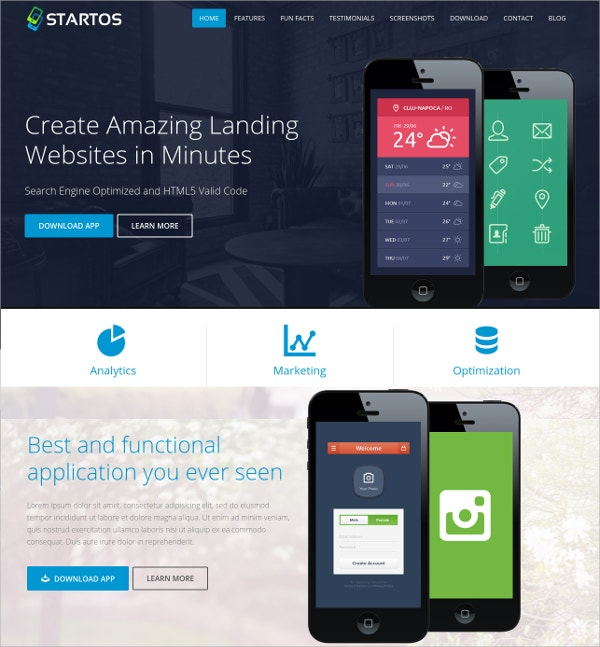 modern app landing page wordpress theme 44