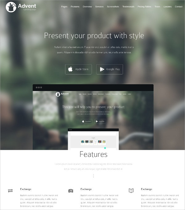 creative app landing page wordpress theme