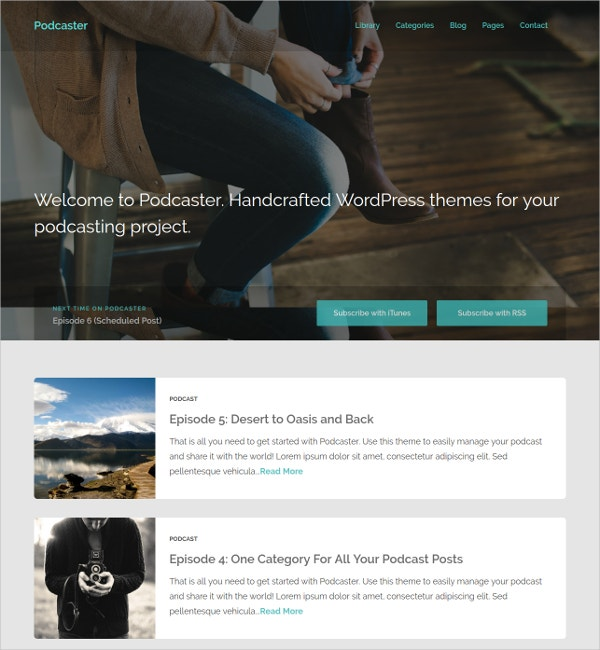 Podcaster Multimedia WordPress Theme $44