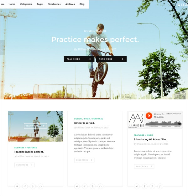 Podcast Multi Concept WordPress Theme For Writers $49