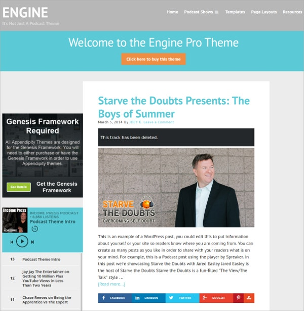 Robust Podcast And Marketing WordPress Theme $79