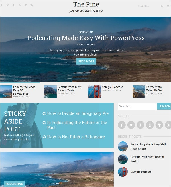 Podcast Magazine WordPress Theme $29