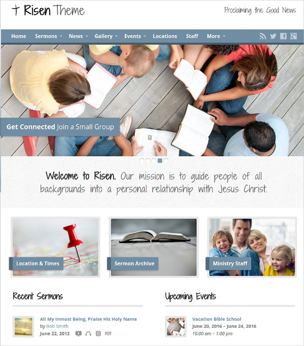 Podcast Church WordPress Theme $49