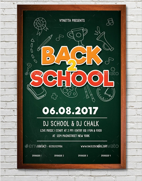 Blackboard Back To School Flyer
