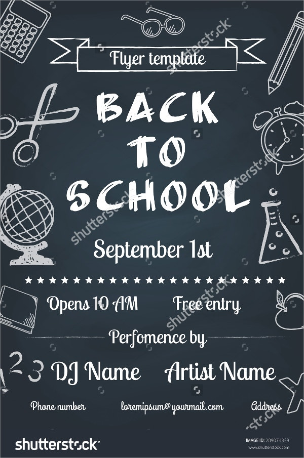 Chalk Board Back To School Flyer