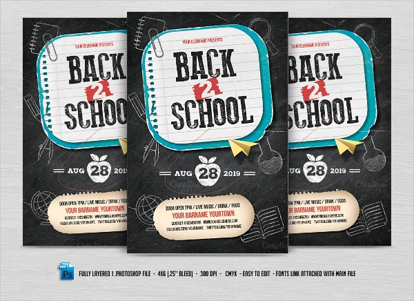 back to school advertising flyers