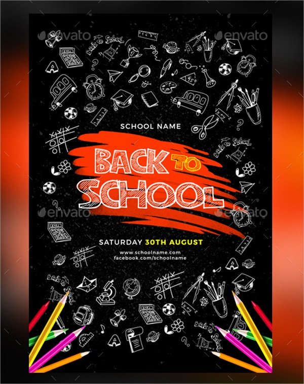 back to school fest flyer