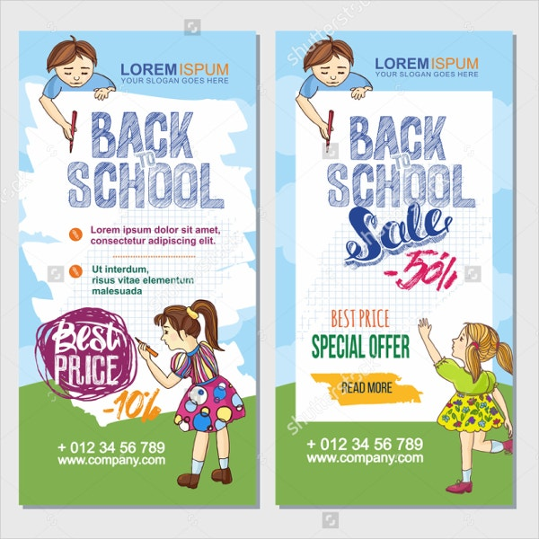 Hand Drawn Back To School Flyer