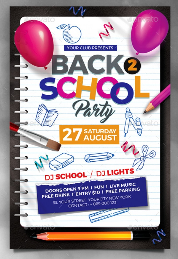 Typhography Back to School Flyer