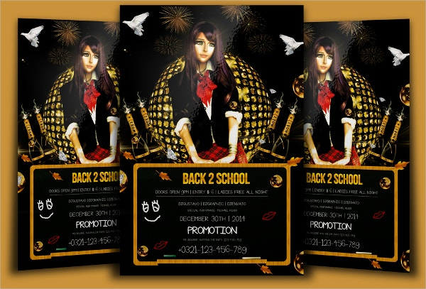 promotional back to school flyers