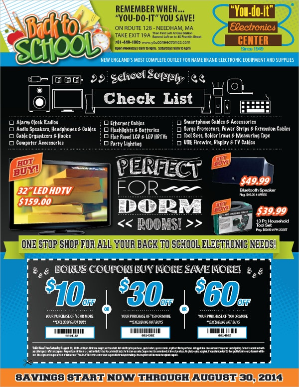 Post Card Back To School Flyer