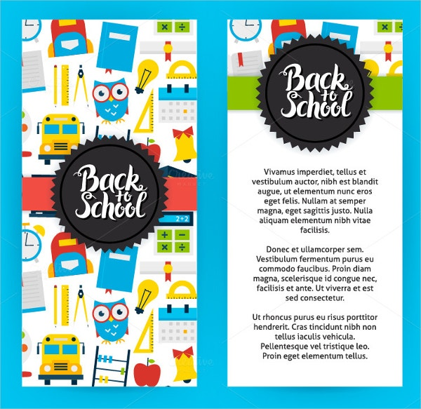 back to school vertical flyers