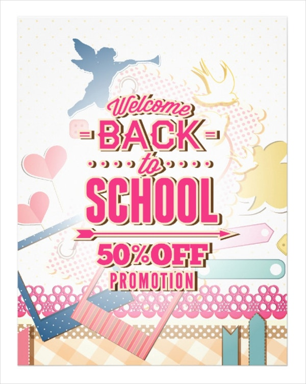 back to school promotion flyer