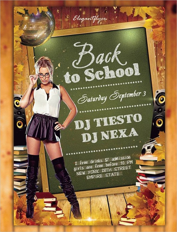 Back to School Celebration Flyers