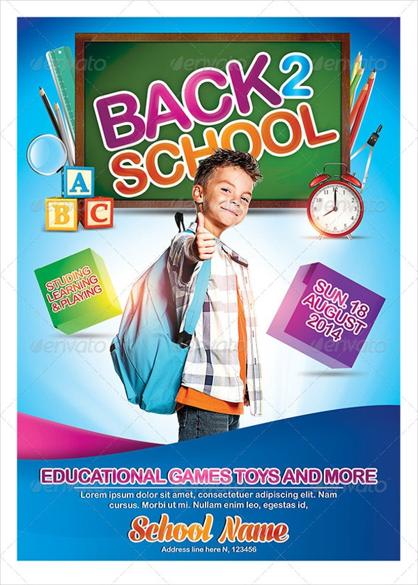 kids back to school flyers