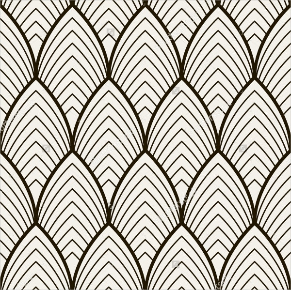 Seamless Stripe Arch Pattern