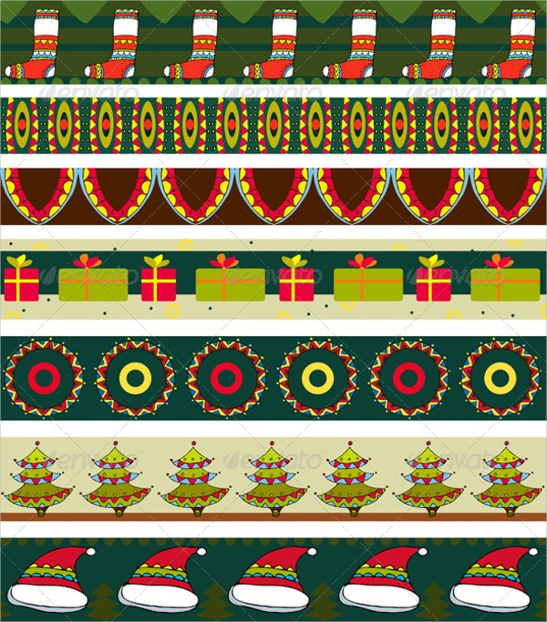 christmas strip pattern set