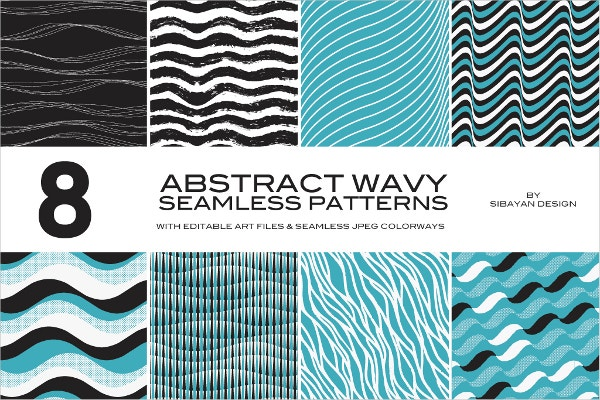 Abstract Wavy Stripe Patterns