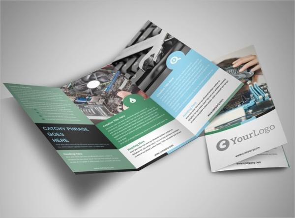 computer repair tri fold brochure