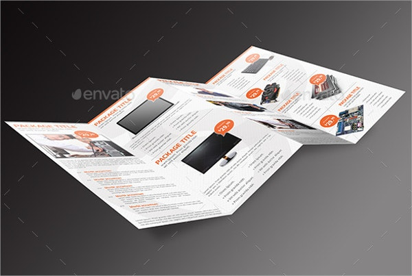computer service 4 panel brochure
