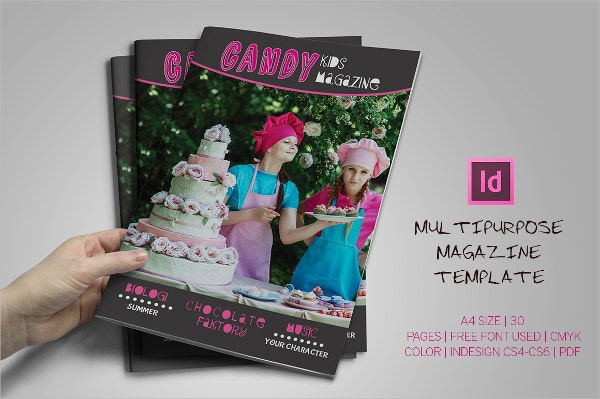 Colorful Children Magazine Template
