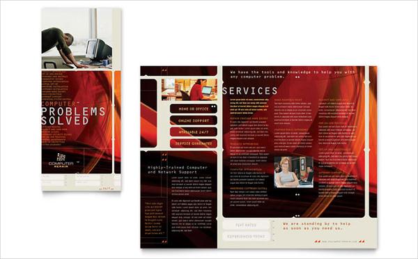 Online Computer Repair Services Brochure