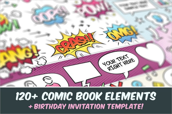 Childrens Comic Book Template