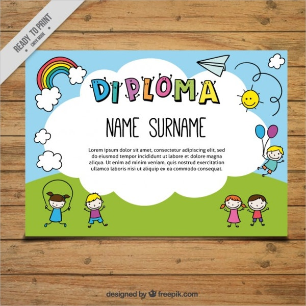 Certificate Template For Children