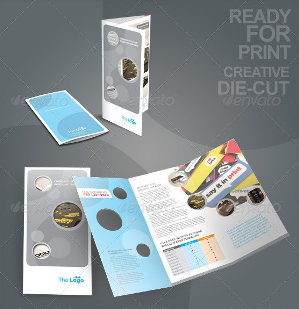 die cut brochure