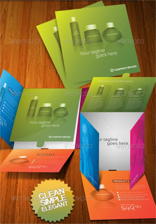 product brochure templates - 5 die cut brochures free psd ai eps format download