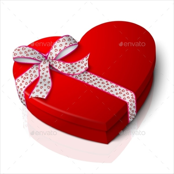 Red Heart Shape Box