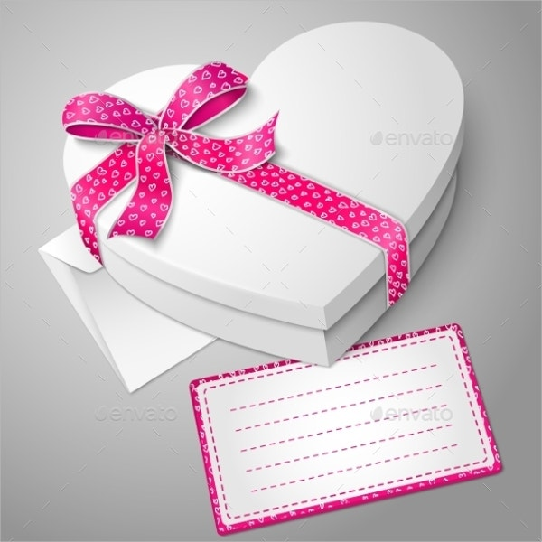 White Heart Shape Box
