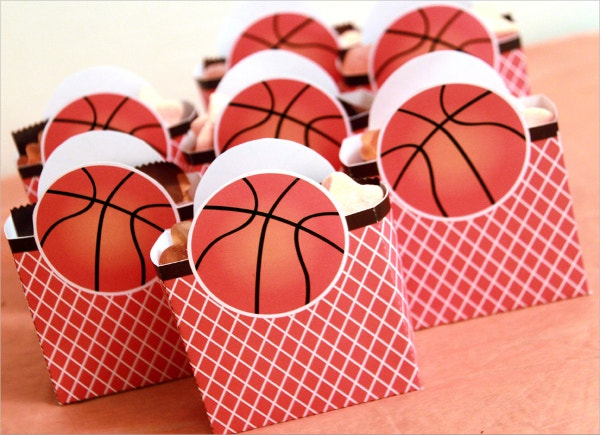 Basketball Favor Box