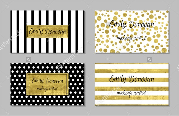 color gold foil business card