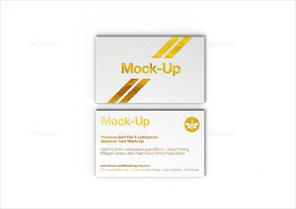 gold foil stamped business card