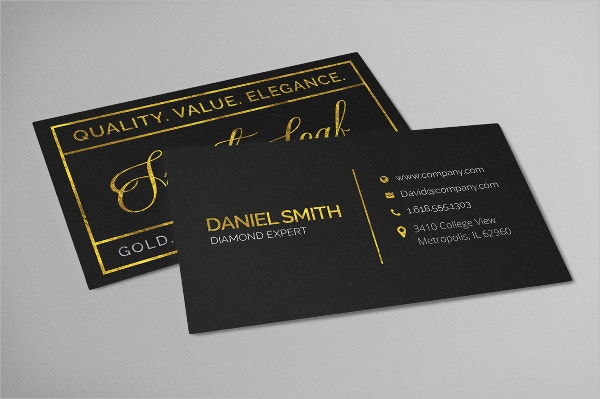 16 Gold Foil Business Cards Free PSD AI EPS Format Download