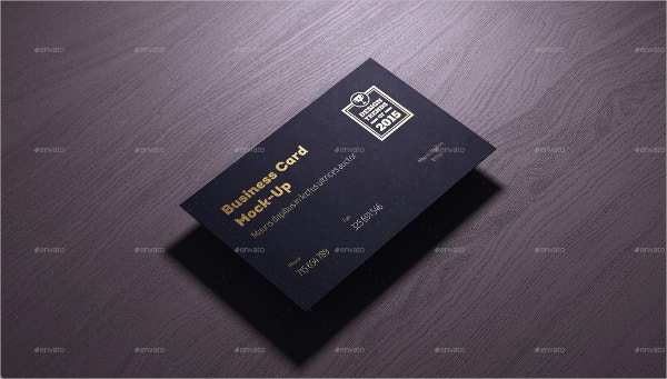 realistic gold foil business card