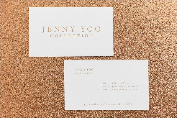 letterpress gold foil business card