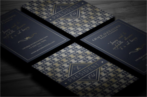 modern gold foil business card