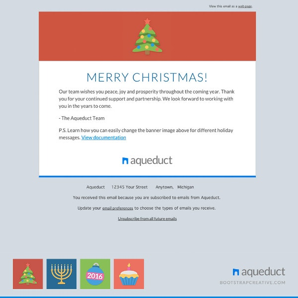 holiday e mail templates
