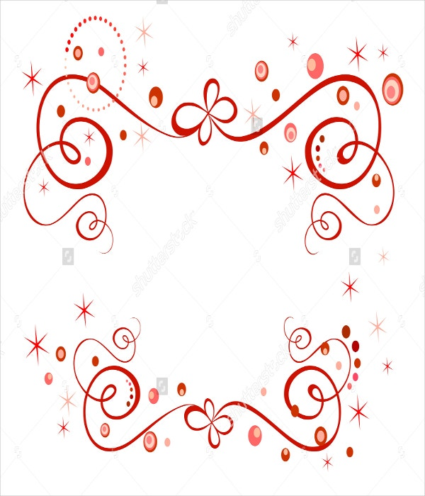raster copy red holiday border template