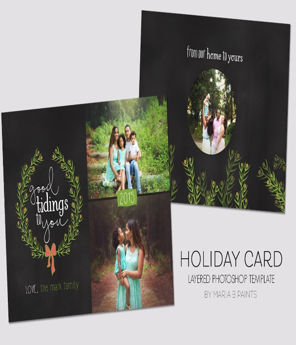 modern holiday card template