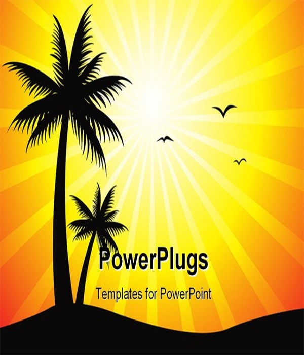 summer holidays powerplugs powerpoint template