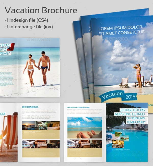 vacation holiday brochure template