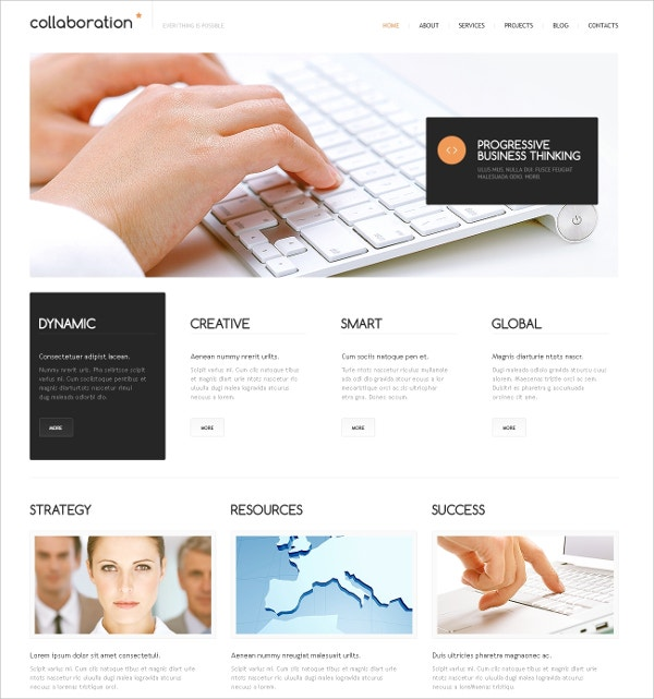 Minimal Marketing WordPress Theme $75
