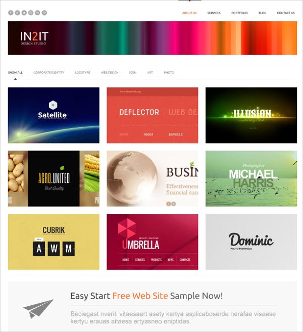 Minimalism Design WordPress Theme $75