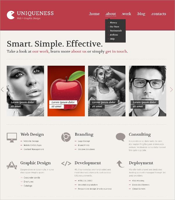 Web Design Minimalism WordPress Theme $75