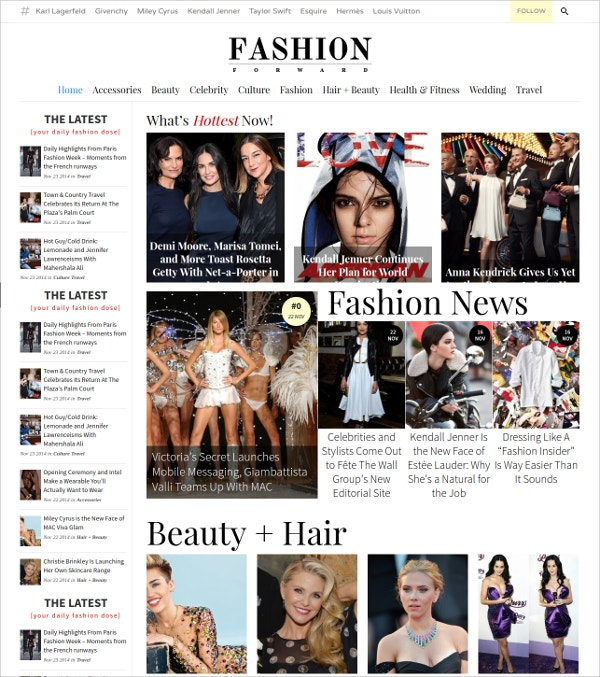 Fashion Magazine Minimal WordPress Theme